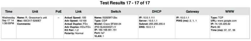 SSI Bench Test 2014-11 - Fluke LinkSprinter 200_2
