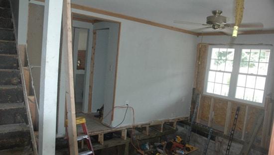 Extensive renovation